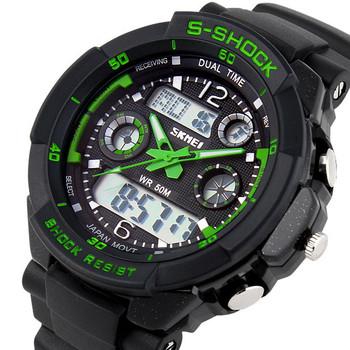 Skmei 0931 мужские спортивные часы, военные, повседневные, брендовые модные цифровые часы (зеленые), горячая распродажа 2014