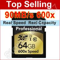 90MB/s Brand Lexar 600x SD Card 32GB SDHC 64GB 128GB SDXC UHS-I Flash Memory Card For Digital SLR Camera Camcorder Free Shipping