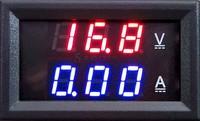 Red Blue LED DC 0-100V 10A Dual display Meter Digital Voltmeter Ammeter Panel Amp Volt Gauge #6 TK1382