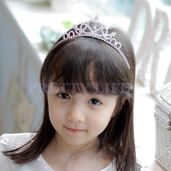 New 2014 Cute Children Kids Girls Rhinestone Princess Hair Band Crown Headband Tiara B19 sv001649(China (Mainland))