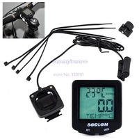 Promotion!!!!2014 New Hot  Digital Cycling Bike Bicycle Wired Cycle Odometer Speedometer Black B16 6249