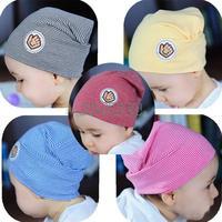 Good Quality ! Girls / Boys Baby Striped Fashion Hats/Caps Double-Deck Rainbow Stripe Cotton Hats Ratail#3 SV004866