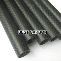 Plain matte roll wrapped Carbon fiber tube for H4 fold frame