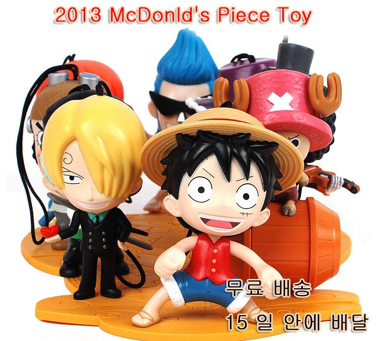 Free Shipping luffy one piece figure mcdonald 's 2014 super toy full set McDonald one piece anime Mario toys super mario plush(China (Mainland))