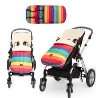 2014 New cotton Envelope Baby Stroller Sleeping Bag Winter Kids Sleep sacks Thick warm Pram accessories Rainbow sleeping bag