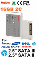 """Kingspec 2.5""""  SATA II SSD 2.5 Inch SATA III SSD 16GB 2-Channel Solid State Disk MLC For Notebook Computer Commercial hard drive"""