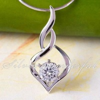 Hot Sale 200pcs!  Free Shipping Wholesale 925 Sterling Silver Necklace in Fashion 2011 CP018
