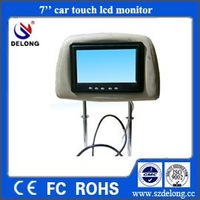 7inch TFT LCD car monitor with 4-wire resistive touch panel  and hot sell