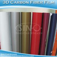 SINO CAR STICKER 1.52x30M 5FTx98FT Free shipping 150Microns Air Free 3D Carbon Fiber Foil