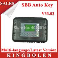 2014 Professional Universal Auto Key Programmer SBB V33.02 Multi-language Silca V33 SBB Key Maker DHL Free Shipping