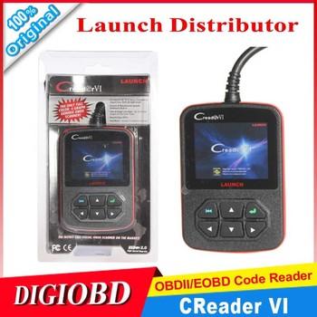 [Authorized Distributor] 3 pcs/lot Launch Creader VI OBD2 AUTO SCANNER ORIGINAL Creader6 code reader CREADERVI free shipping