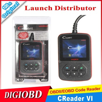 [Authorized Distributor] HIGH QUALITY Launch Creader VI OBD2 AUTO SCANNER ORIGINAL Creader6 code reader CREADERVI free shipping