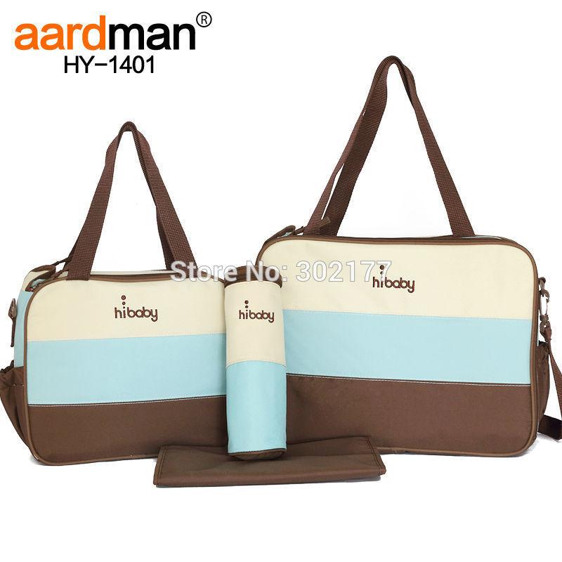 Ingrosso spedizione gratuita 4 pezzi baby care borsa, pannolino sacchetto set, pannolino tote in vendita- blu, rosa