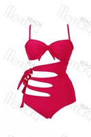 High quality! fashion rose red swimwear,lady's swimsuit, sexy monokini with cup, size S/M/L, BK1010
