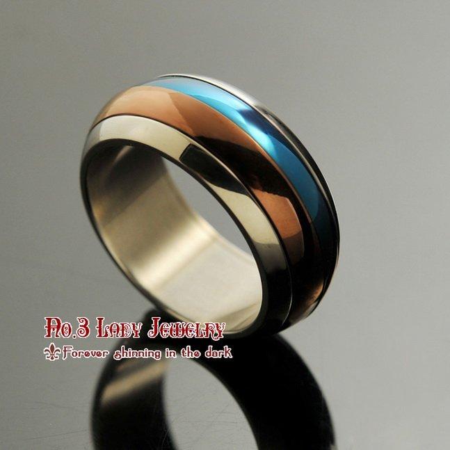 316l anneaux en acier inoxydable mens bijoux bijoux de mode, détail de gros, livraison gratuite, wr068