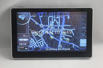 Built-in 4GB 4.3 inch MTK Car GPS Navigation System 800MHz 128MDDR FM 480*272 Wince 6.0 Primo maps free shipping Satnav