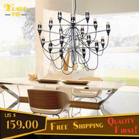 Free Shipping 18 Lights Pendant Lamp E14/E12 Free Bulbs Pendant Lights 2097/18P