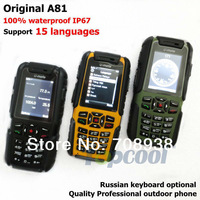 Original U-mate A81 IP57 Waterproof phone dustproof  Dual Sim Quadband outdoor phone 3colors  Army phone Russian Keyboard OK