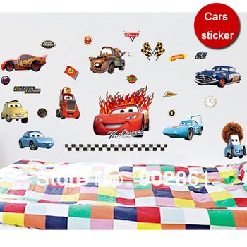 [funlife]-100x60cm(40x24in)Boy's Bedroom 50x70cm Pixar CARS Wall Stickers Kids Nursery Room Art Decal Decor Sticker