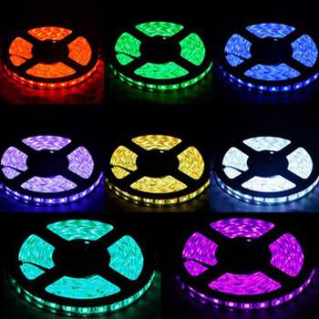 5050 RGB 300 LED Strip tira 60 led/m Waterproof IP65 ribbon luminaria 5m warm white|blue|green 12v by DHL 100 roll/500m