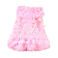 Beautiful Dog Coat, Warm and Sweety Pet Holiday Clothes,Pink and Red