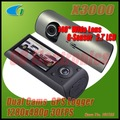 X3000 2.7 &quot;LCD Wide Angle Dual Cameras Car DVR with GPS Logger,Freeshipping,Dropshipping