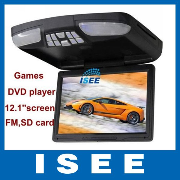 "12.1""Flip down Multi-media DVD Player +Game Pad+FM+SD+USB Roof Mount CAR Video player(China (Mainland))"