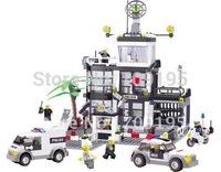 Holiday Sales enlighten child 6725 DIY Educational Police Stations 631pcs KAZI building block sets,children toys free Shipping