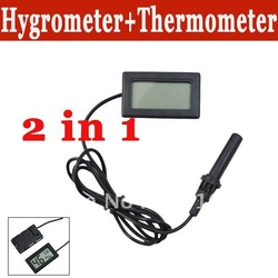 Mini lcd digital thermometer hygrometer humidity temperature meter fridge freezer free shipping(China (Mainland))