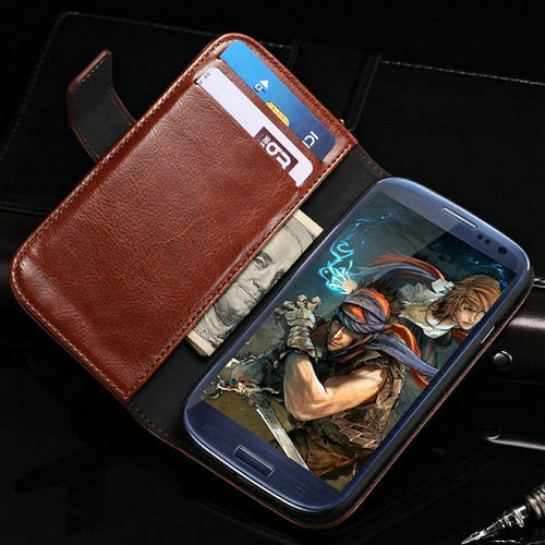 Vintage Walllet PU Leather Stand Design Case for Samsung Galaxy S3 i9300 SIII S III Luxury with Card holder Free Sreen Protector(China (Mainland))