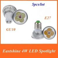 Mail Free+1PC SD17/SD18 GU10 4W LED  White/Warm White 4 LED Light Bulb 85-265V 360 360 Lumens Ultra Bright High Power Spot Light