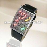 Peanut Shell Three Color LED lights, Binary Watch, ML0019