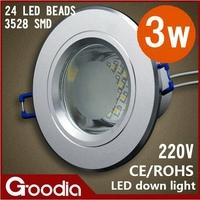 3W led downlight AC85~265V aluminum Cool white/Warm white led light kitchen,luminarias home decoration lamp,luminaria banheiro