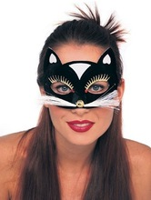 Black Cat Kitty Mask Eye for Venetian Masquerade Carnival Women Lady Gaga Fashion Kids Female Party Halloween Free Shipping(China (Mainland))