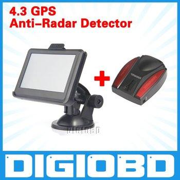 "4.3""GPS navigation+4GB+480*272+500MHz+MP3/MP4+4GB memory+RAM128+Free map+Anti-Radar Detector"