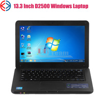 Cheap 13 inch Intel Laptop Computer Atom D2500 1GB RAM 160GB HDD WIFI Webcam DVD burner