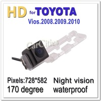 CCD HD car camera Wired170 degree for Toyota Vios 2008.2009.2010 Waterproof shockproof Night version Size120.7*33*40.7mm