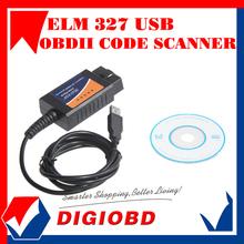 Средства диагностики авто ELM 327 интерфейс OBD2 OBD 327 сканер USB автомобиля диагностический инструмент сканирования ELM327(China (Mainland))