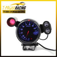 80mm  Defi  Tachometer gauge  Red&Green Warning /Auto meter/auto gauge/car meter/black face (Blue led or Red led or White led)