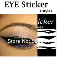 12 styles for choice eyelids lasher eyelash eyeliner stickers Smoky Eyes Sticker eyebrows stickers eye  free shipping
