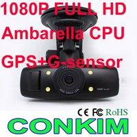 "2013 Clearance Sale Ambarella Car GPS Black Box GS1000 1.5""LTPS LCD+120 wide angel+built in GPS &G-sensor+HDMI output+H.264 DVR"