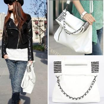 white bags women 2013 pu leather bags ladies handbags Fashion cheapest Shoulder shopping Bag Purse 12