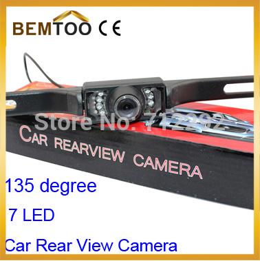 Car Reversing Rear View Camera 135 degree 7 LED Night Vision Backup Parking camare PAL/ NTCS, Free Shipping(China (Mainland))