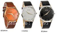 New Fashion Mens Classic Luxury Wrist Watch/Belt watches/South Korean style fashion ultra-thin belt watch