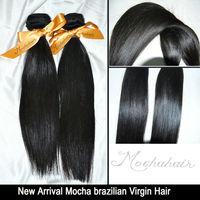 Mocha Hair Products Brazilian Straight Virgin Hair,100% Human Virgin Hair 2pcs/lot,Grade 6A,Unprocessed Hair