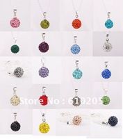 Promotion!Wholesales 2012 Christmas Gift Mixex colors Shamballa Necklaces  fashion jewelry