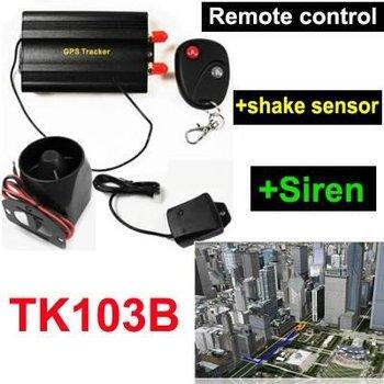 Car GPS tracker TK103 b with Remote controller ,Siren and Shake Sensor