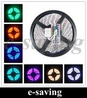 5050  5M RGB LED Strip SMD 60led/m  waterproof + 44key IR remote & controller ribbon