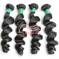 Perfect Brazilian Virgin Hair Loose Weave Bundles Cheap Brazilian Hair 3pcs/lot Color 1B free shipping