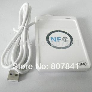 Free shipping acr122u NFC Reader Writer with free SDK+ 5 Pcs NFC smart tags stickers
